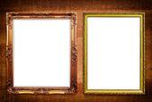 Marco de fotos en la textura de madera. — Foto de Stock