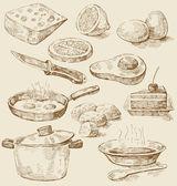 Juego de cocina — Vector de stock