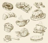 Conjunto de alimentos — Vetorial Stock