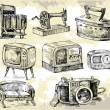 Royalty-Free Stock Imagen vectorial: Old times-original hand drawn set