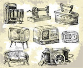 Old times-original hand drawn set — Vector de stock