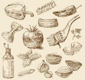 Formes de pâtes — Vecteur