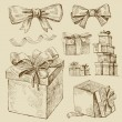 Set of vector gift boxes — Stock Vector #10165474