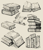 книги стек — Cтоковый вектор