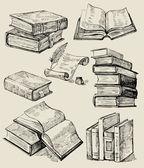 Böcker stack — Stockvektor