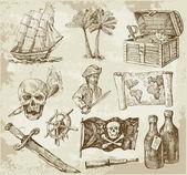 Colección pirata — Vector de stock
