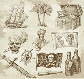 Pirate collection — Vettoriale Stock