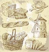 Nahtloser vektor-bäckerei — Stockvektor