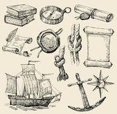 Coğrafi tasarım unsurları — Stok Vektör