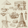 Royalty-Free Stock Vector Image: Paris - hand drawn collection