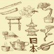 Japan design elements - Stock Vector