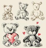 手描きのおもちゃ — ストックベクタ
