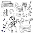 Music set - Stock Vector
