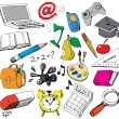 School doodles - Stock Vector