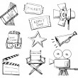 Movie icon set — Stock Vector #10568886