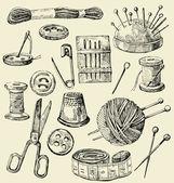 Macchine da cucire vettoriale — Vettoriale Stock