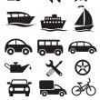 Transportation icons. Vector set — Stock Vector