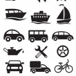 Transportation icons. Vector set — Stockvektor
