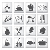 Icons set for restaurant, cafe and bar — Stock Vector