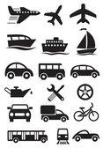 Transportation icons. Vector set — Stock Vector