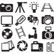 Stock Vector: Cameras set