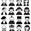 Stock Vector: Faces