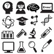 Science icons — Stock Vector #10615114
