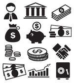 Bancaire pictogrammen — Stockvector