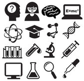 Science icons — Stockvektor
