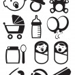 Baby icons — Stock Vector #10629394