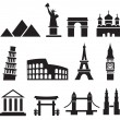 Stock Vector: Landmark icons