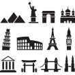 Landmark icons - Stock Vector