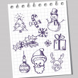 Royalty-Free Stock Vector Image: Happy doodle christmas
