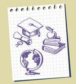 Graduation background — Stock Vector