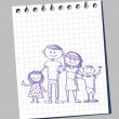 Doodle of family — Stock Vector