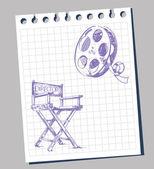 Film pozadí — Stock vektor