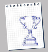Trophée de doodle — Vecteur