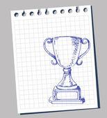 Doodle trophy — Stock Vector