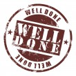 Well done stamp — Image vectorielle