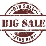 Big sale stamp — Stock Vector
