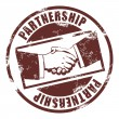 Partnership stamp — Stok Vektör