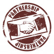 Partnership stamp — Stockvektor