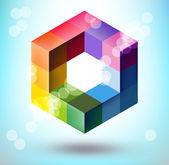 Forma poligonal 3d — Vector de stock