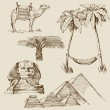 Egypt hand draw - Stockvectorbeeld