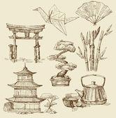 Japan design elements — Stock Vector