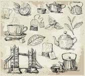 Set of tea — Stock Vector