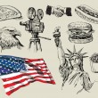 USA background — Vettoriali Stock
