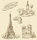 Set of france — Stock Vector