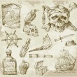 Royalty-Free Stock Vector Image: Pirate collection