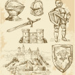 Medieval collection - Stock Vector